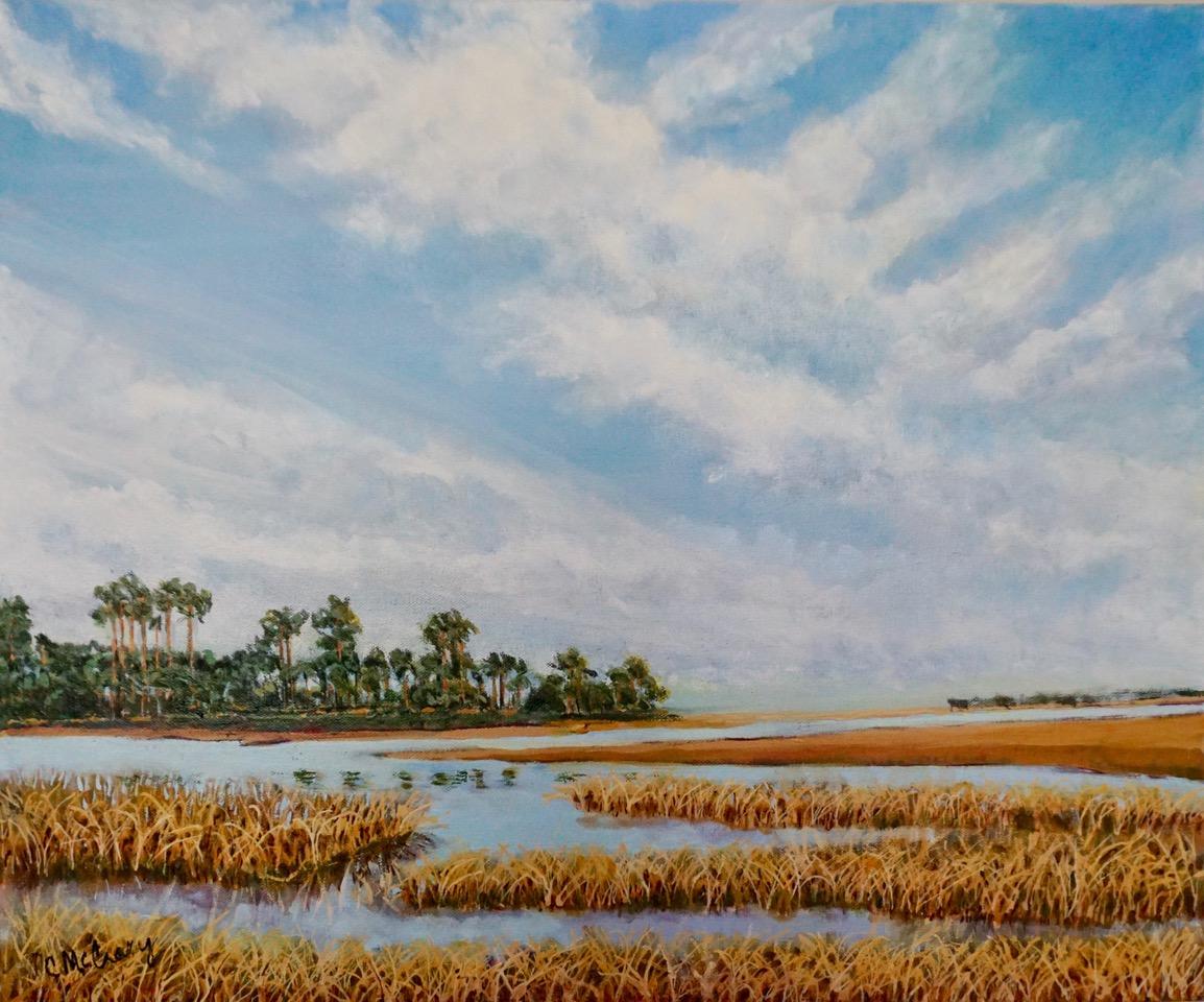Painting of salt marsh
