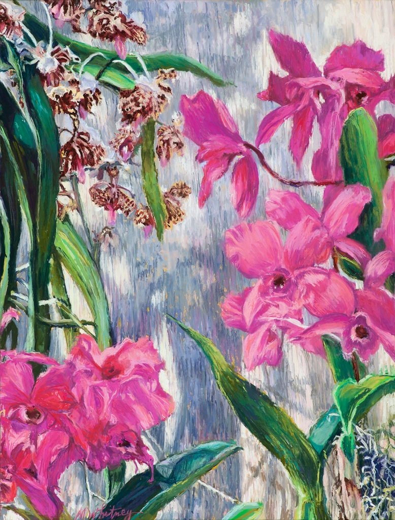 Painting of orchids by Maggie Whitney