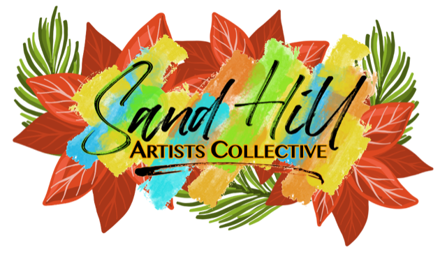 Schedule of Sand Hill Artists Collective Holiday Virtual Gallery Tour webinars.